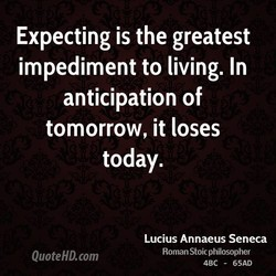 Expecting is the greatest 