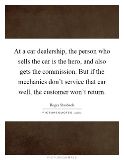 At a car dealership, the person who 