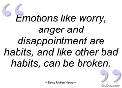 Émotions like worry, 