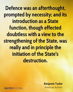 Defence was an afterthought, 