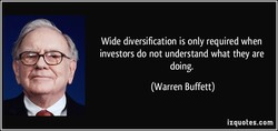 Wide diversification is only required when 