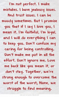 Itm not perfect. make 