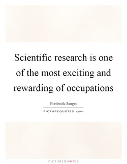 Scientific research is one 