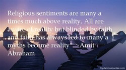 Religious sentiments are many a 