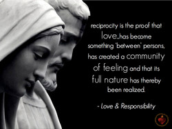 reciprocity is the proof that 