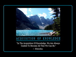 ACQUISITION OF KNOWLEDGE