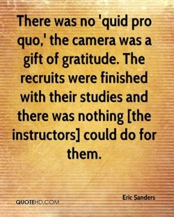 ¯ There was no 'quid pro 