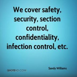 We cover safety, 