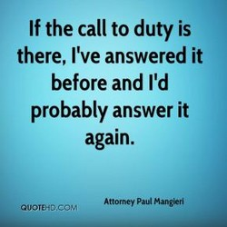 If the call to duty is 