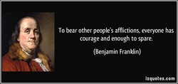 To bear other people's afflictions, everyone has 