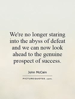 We're no longer staring 