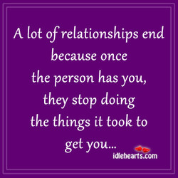 A lot of relationships end 