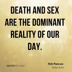 DEATH AND SEX 