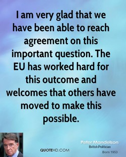 I am very glad that we 