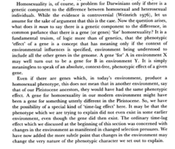 Hornoscxuality is, Of course, a problem for Darwinians only if there is a 