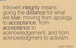 Introvert integrity means 