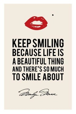 KEEP SMILING 