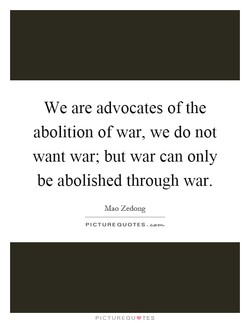 We are advocates of the 