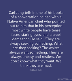 Carl Jung tells in one of his books 