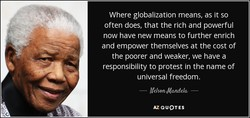 Where globalization means, as it so 