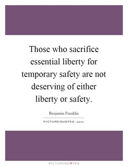 Those who sacrifice 