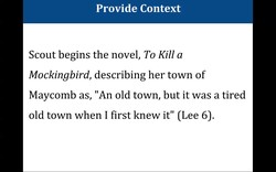 Provide Context 
