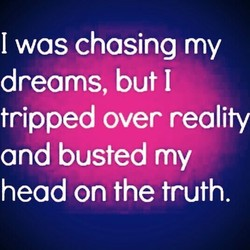 I was chasing my 