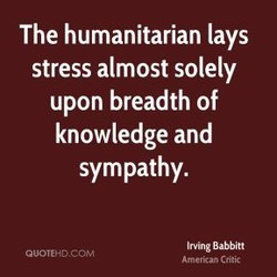 The humanitarian lays 