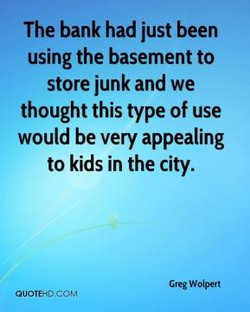 The bank had just been 