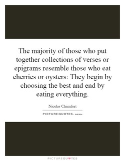 The majority of those who put 