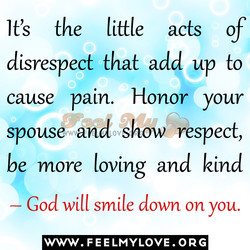 It's the little acts of 