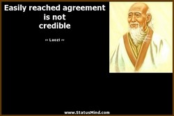 Easily reached agreement 