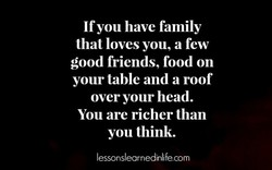 If you have family 