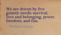 We are driven by five 