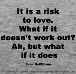 It is a risk 