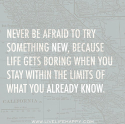 NEVER TO TRY 't 