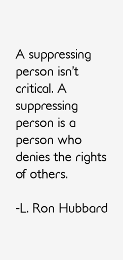 A suppressing 