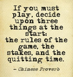 If you must 