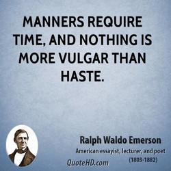 MANNERS REQUIRE 