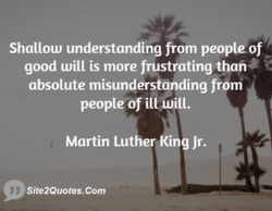 Shallow understanding from peopleof 