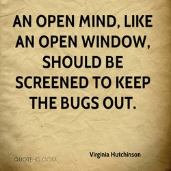 AN OPEN MIND, LIKE 