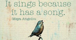 It sings because 