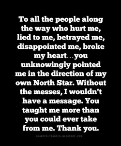 To all the people along 