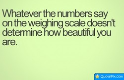Whatever the numbers say 