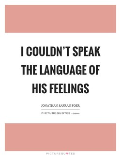 I COULDN'T SPEAK 