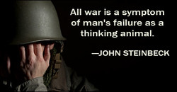 All war is a symptom 