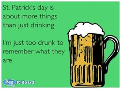 St. Patrick's day is 