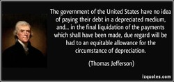 The government of the United States have no idea 