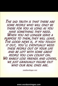 THE SAD TRUTH THAT THERE ARE 