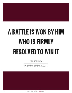 A BATTLE IS BY HIM 